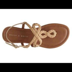 NWT Braided Strap Sandals